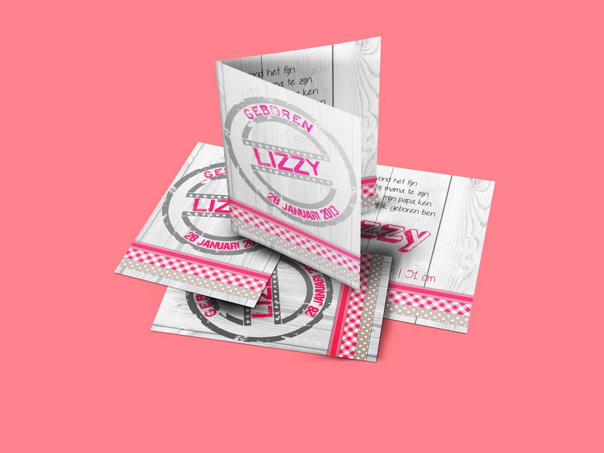 Geboortekaartje-baby-lizzy