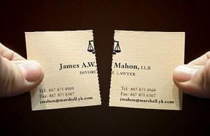 visitekaartje echtscheidingsadvocaat